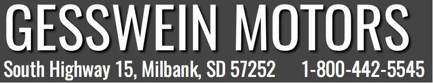 Gesswein Motors, Phone: (844) 559-2576. Fax: (605) 432-5255. Address: South Highway 15, Milbank, SD 57252. Website: gessweinmotorsmilbank.com