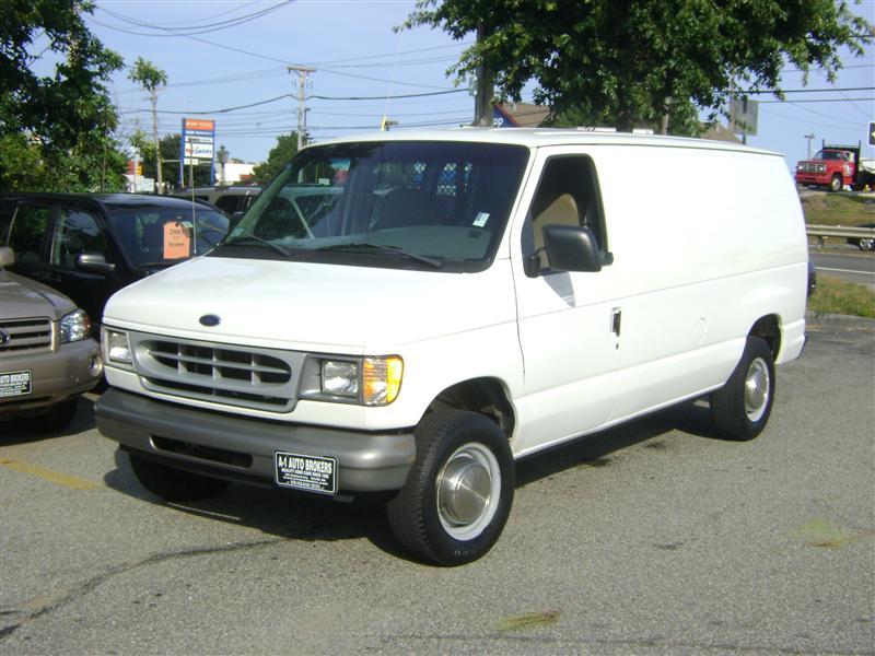 1998 ford econoline cargo van for sale salem ma 8 cylinder white id. Black Bedroom Furniture Sets. Home Design Ideas