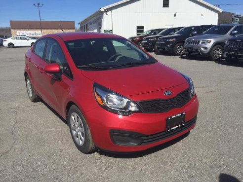 2014 kia rio lx for sale oneonta ny 1 6l 4 cylinder red id 549186320. Black Bedroom Furniture Sets. Home Design Ideas
