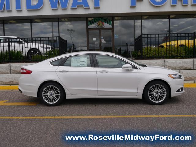2016 Ford Fusion Se White Platinum Roseville Mn