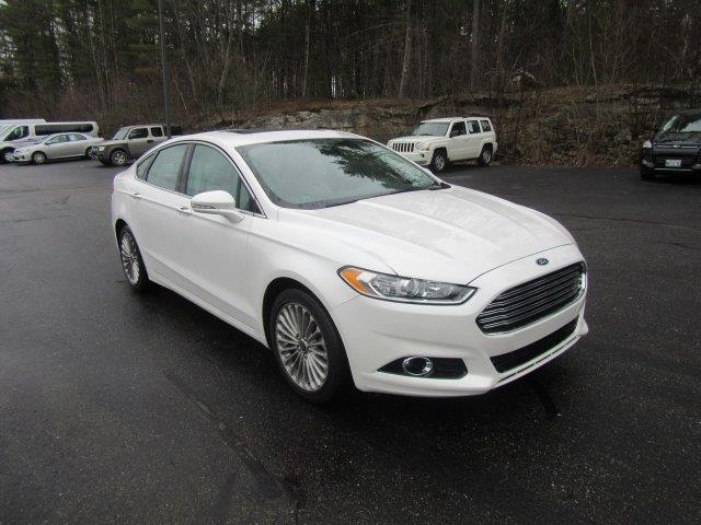 2016 ford fusion titanium for sale wiscasset me 2 0 l 4 cylinder white pearl www. Black Bedroom Furniture Sets. Home Design Ideas
