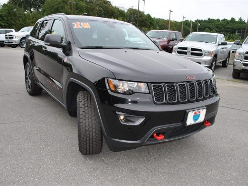 2018 jeep grand cherokee trailhawk for sale lowell ma 3 6l v 6 cyl cylinder diamond black. Black Bedroom Furniture Sets. Home Design Ideas