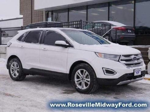 2016 Ford Edge Sel White Roseville Mn