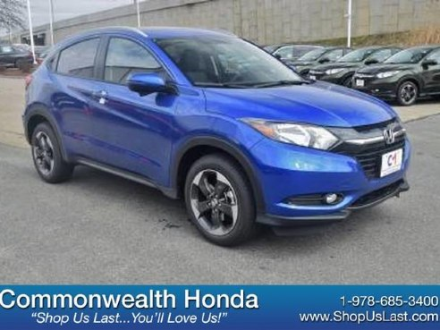 2018 Honda HR-V EX-L Navi Aegean Blue Metallic, Lawrence, MA