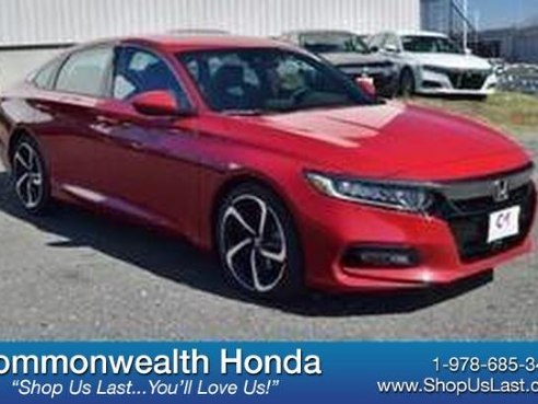 2018 Honda Accord Sedan Sport San Marino Red, Lawrence, MA
