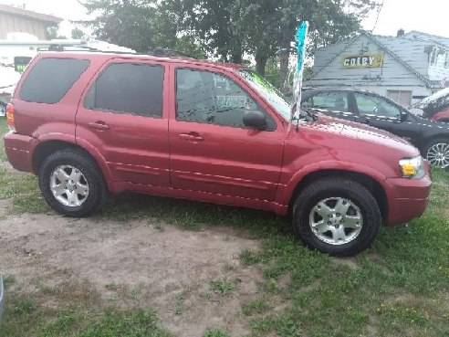 2007 Ford Escape Xlt Awd 4dr Suv V6 Electric Red Lockport Ny